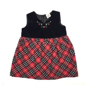 Hanna Andersson Dress Plaid Holiday Christmas Red